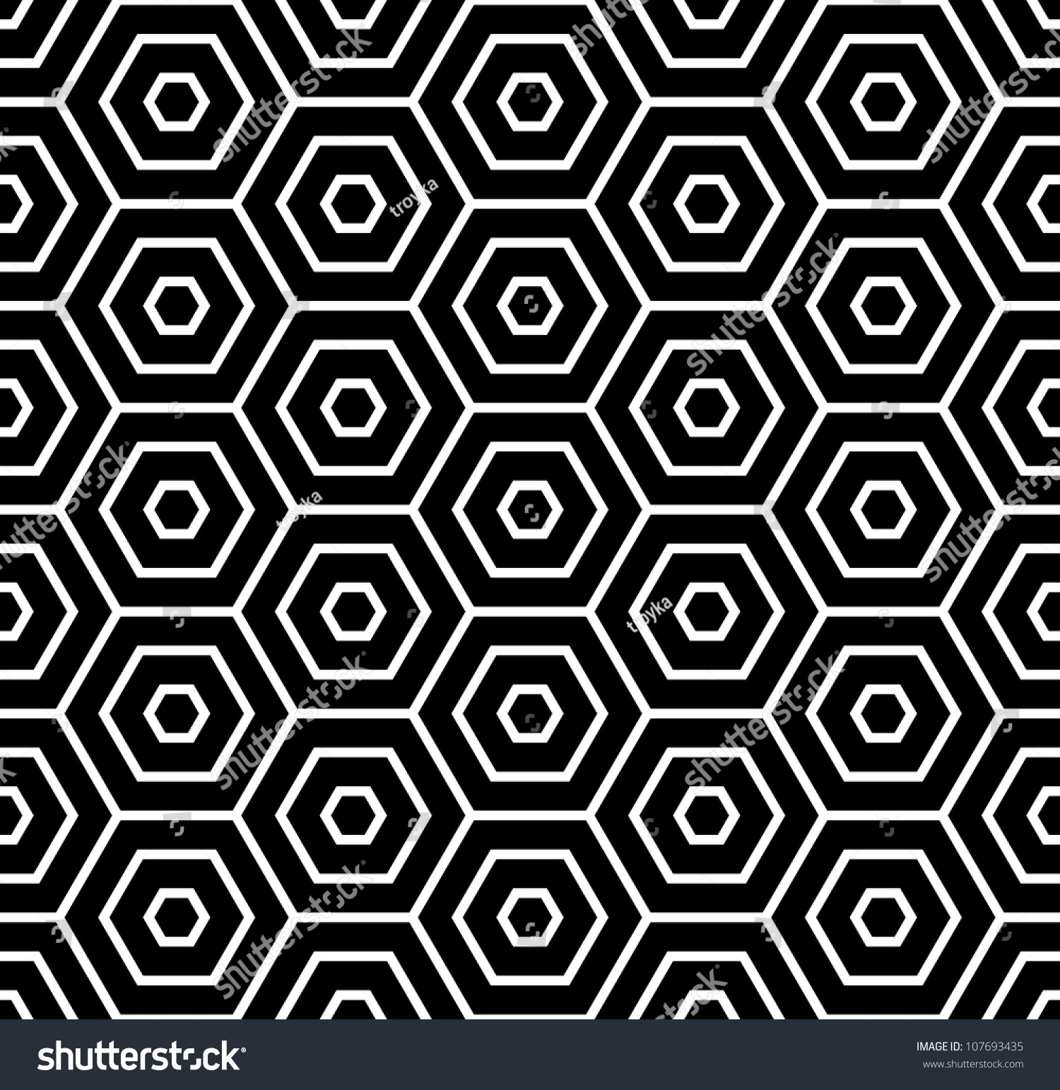 Hexagons texture seamless geometric pattern vector stock for Object pool design pattern