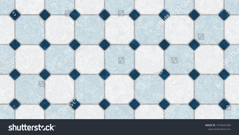 Gray Dark Blue Seamless Classic Floor Stock Illustration 1076947280