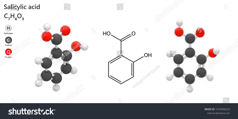 salicylic acid molecular formula c 7 h 6 o 3 beta stock illustration 1076950223 shutterstock