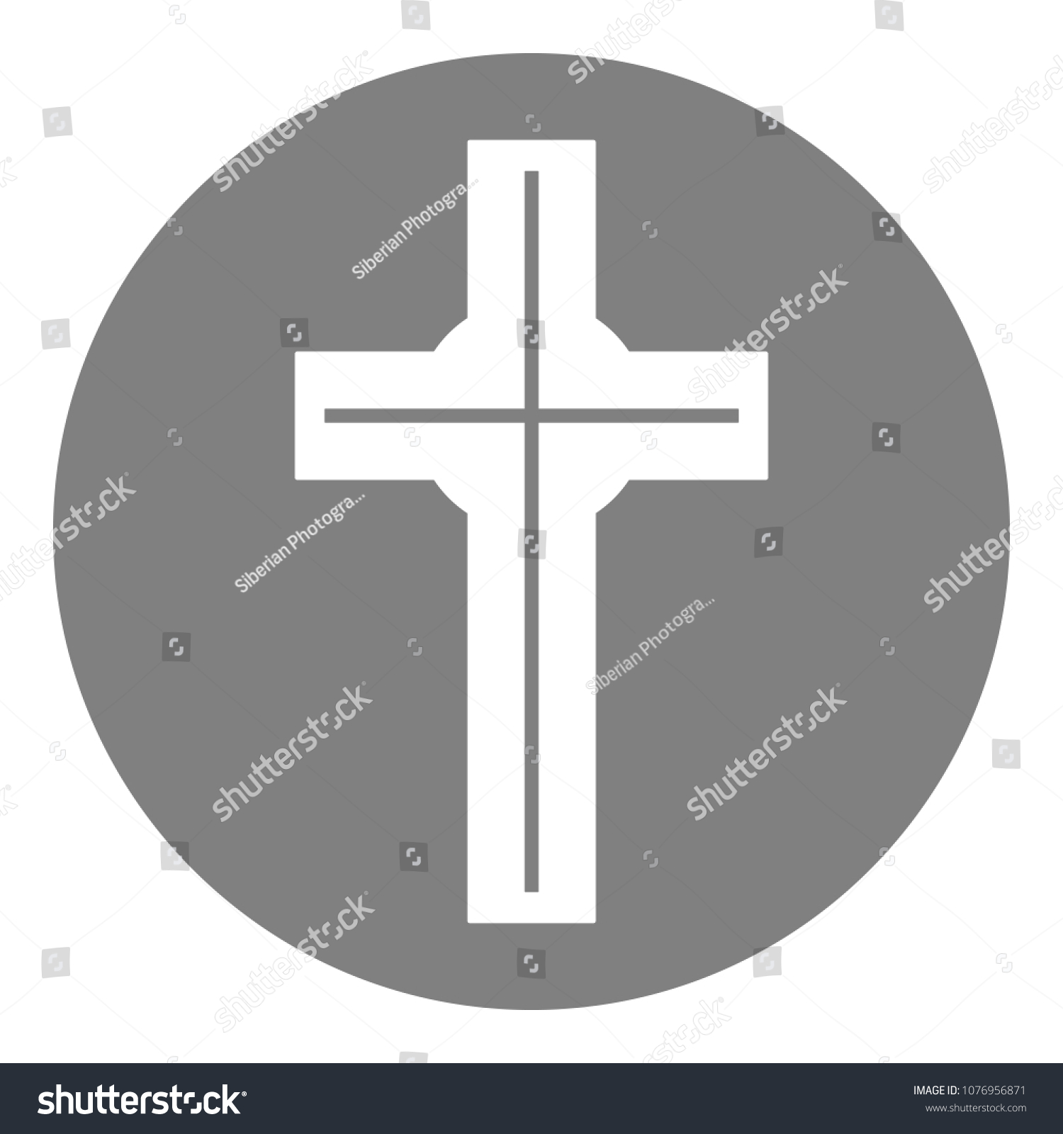 Catholic Cross Sign Christian Religion Symbol Stock Vector Royalty