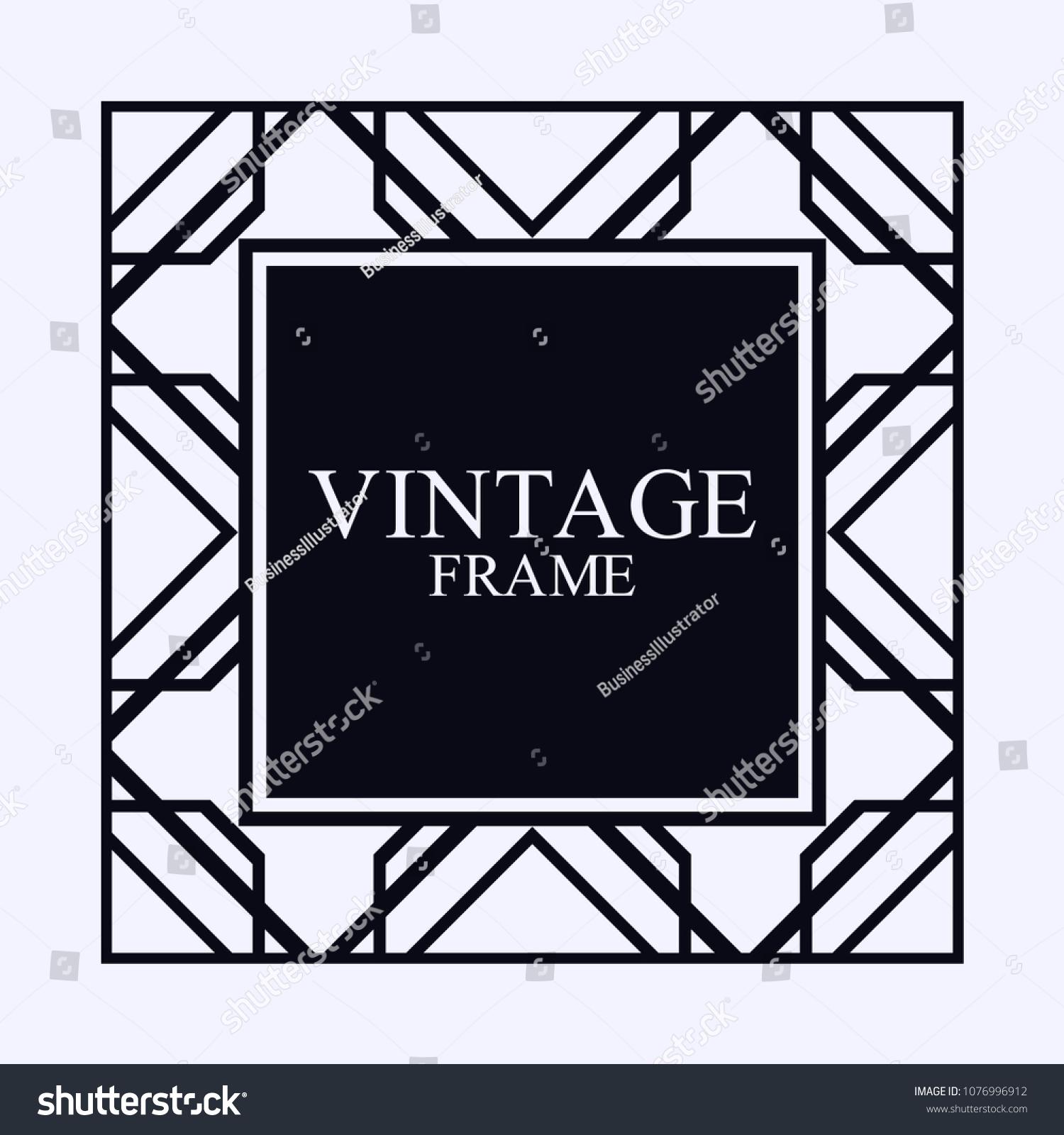 vintage ornamental decorative label frame ornate stock vector