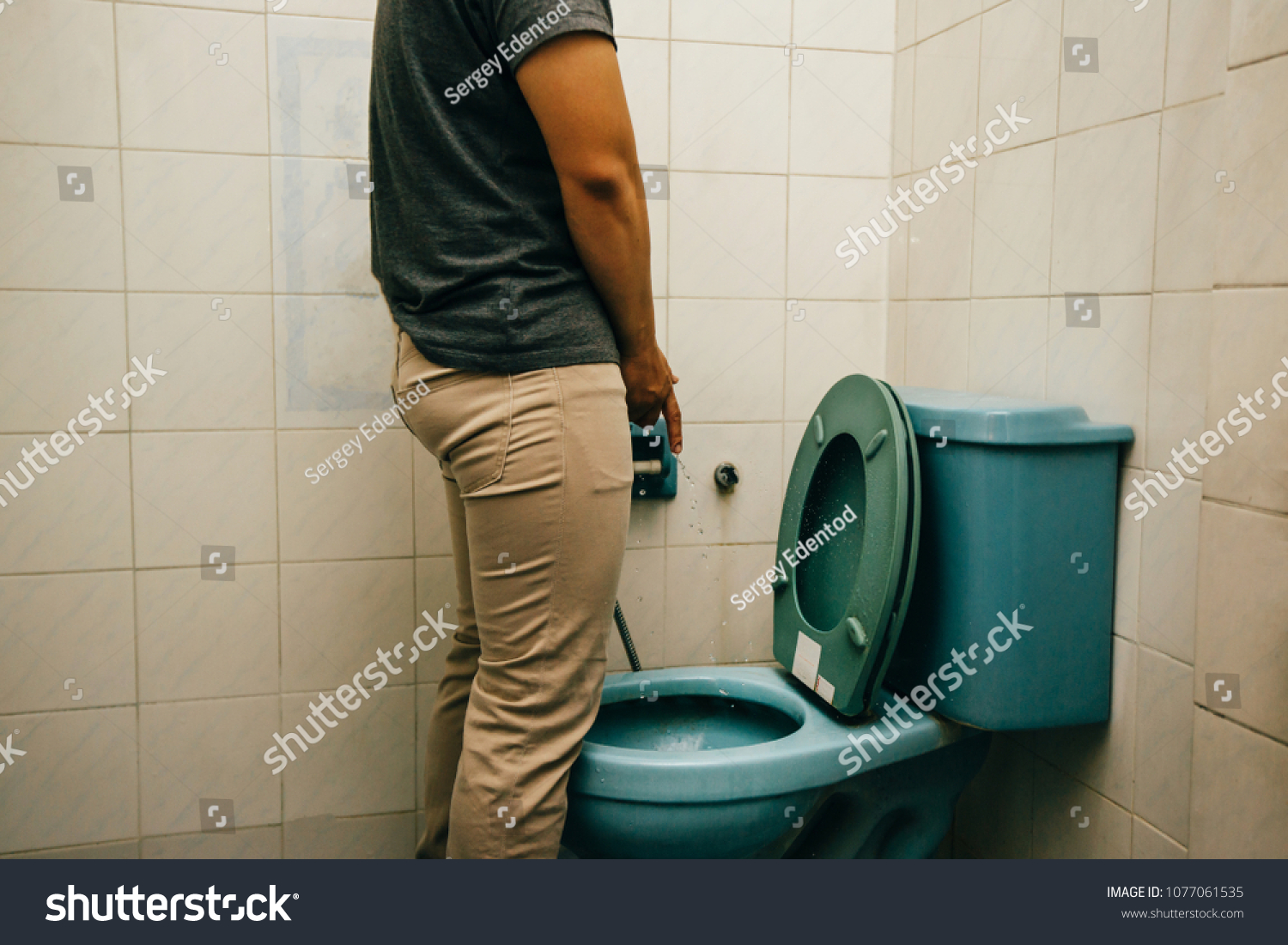 Men peeing picture think