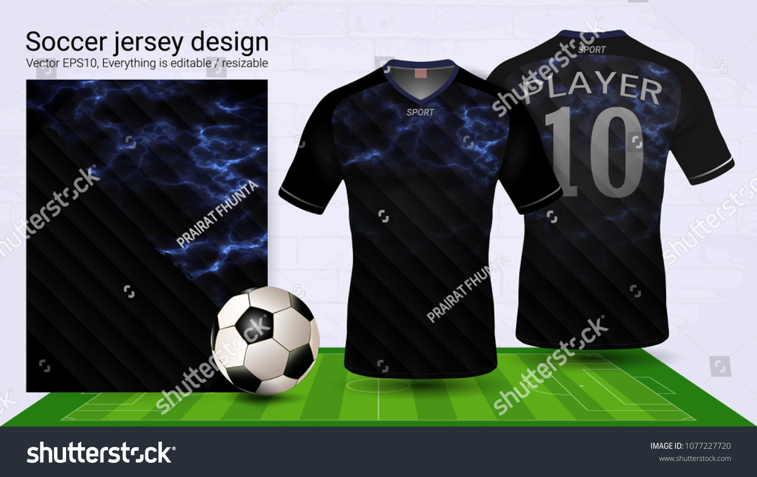 a41634dcf Soccer Jersey Tshirt Sport Mockup Template Stock Vector (Royalty ...