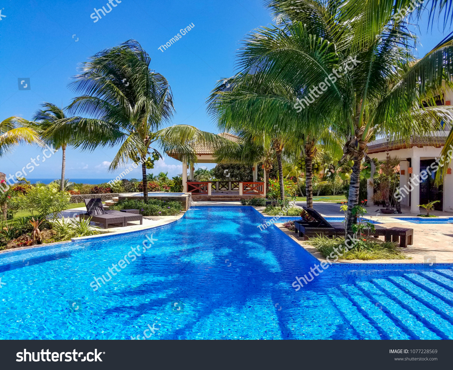 Tropical Swimming Pool Landscape Stock Photo (Edit Now ...