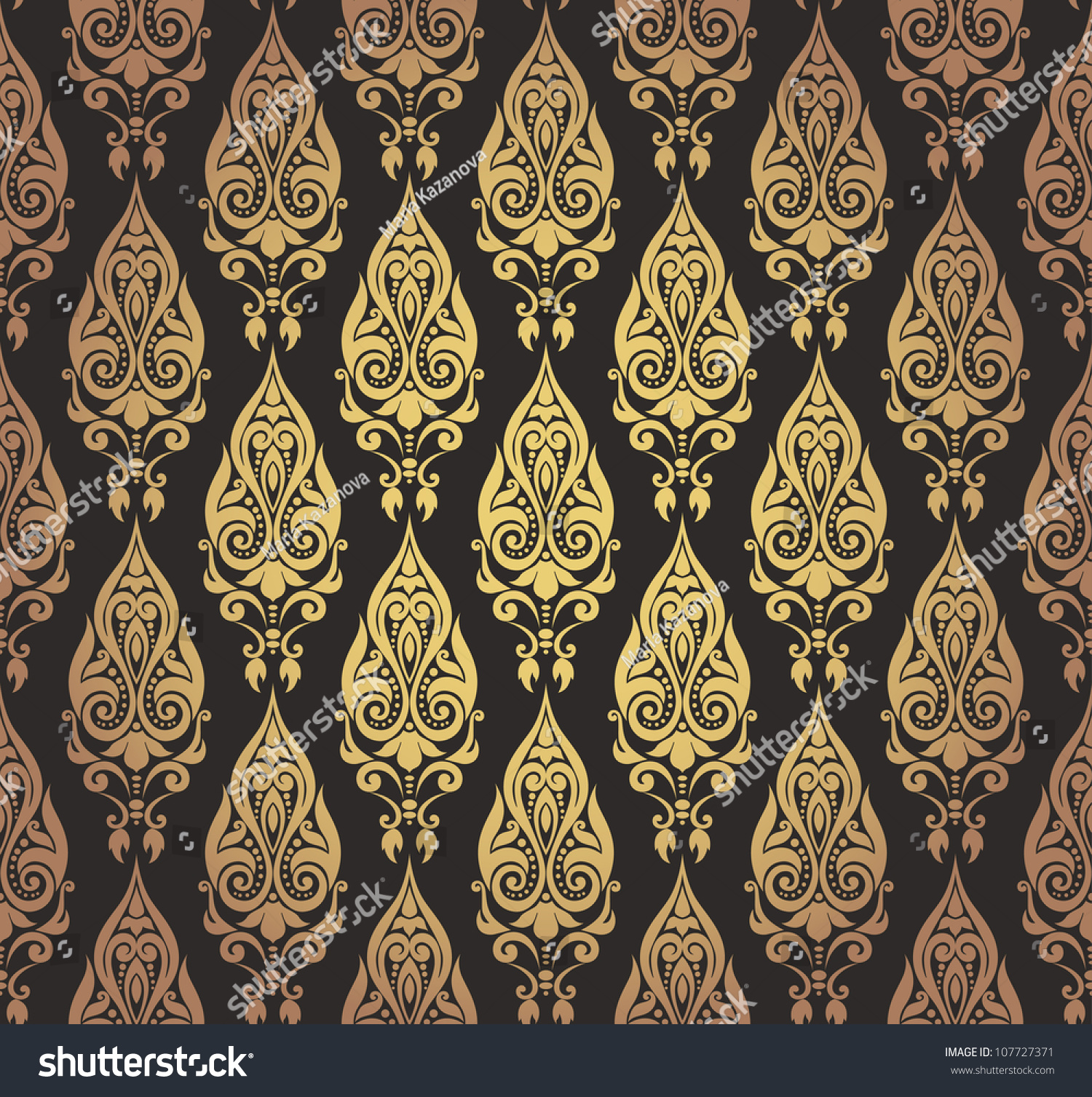 vector illustration of seamless decorative wallpaper with