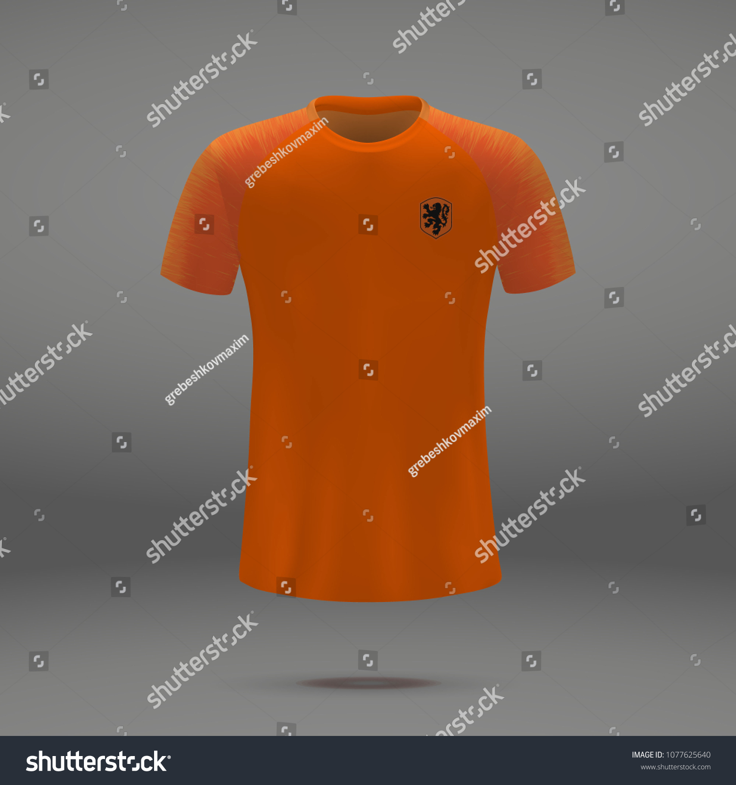 online store 85f06 638a9 Football Kit Netherlands 2018 Shirt Template Stock Vector ...