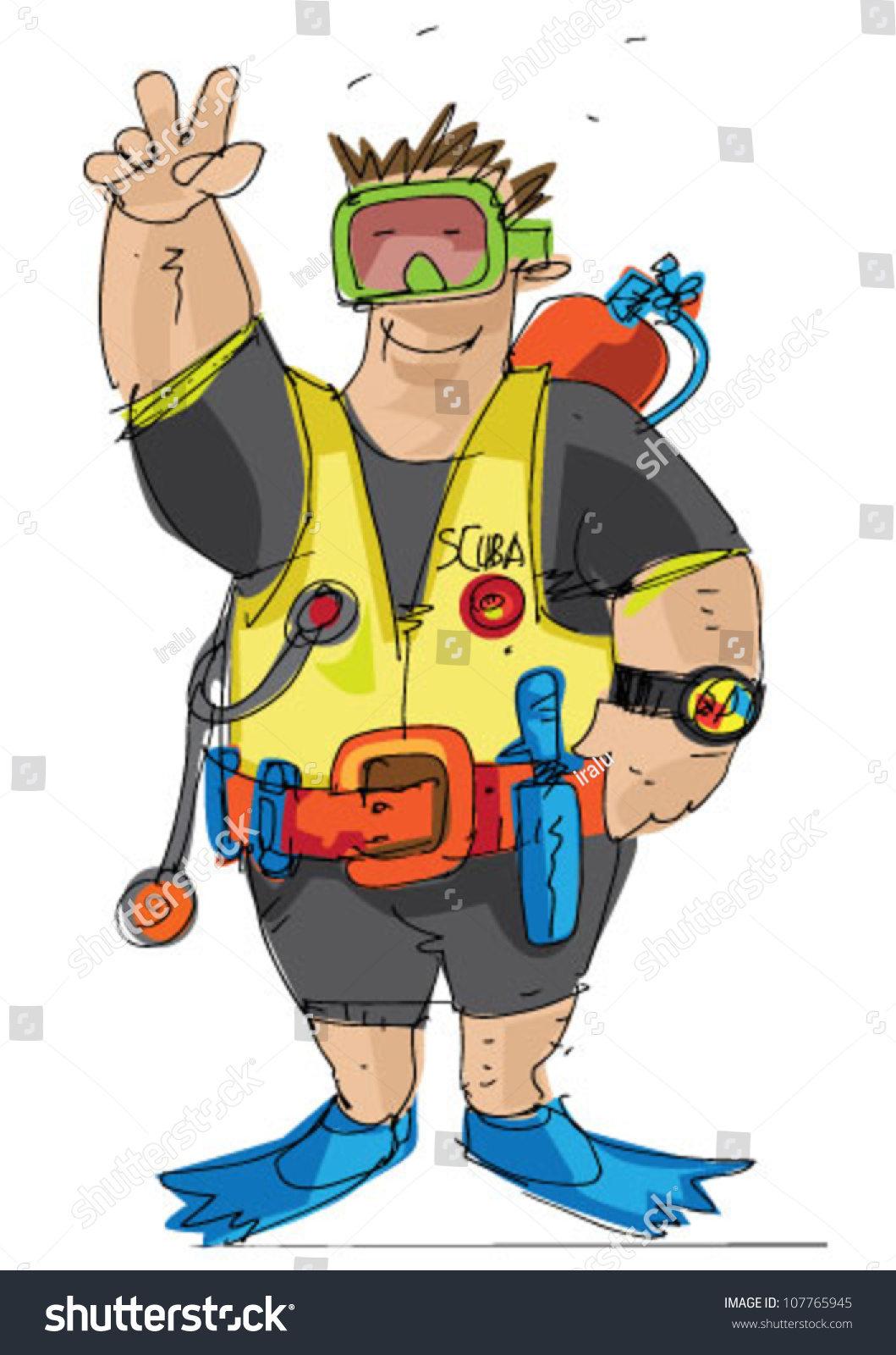 Scuba Diver Cartoon