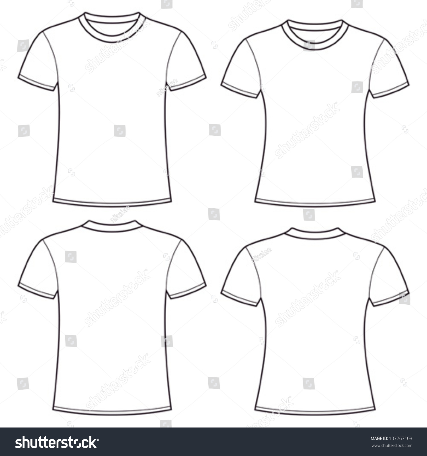 full size t shirt template - blank t shirts template stock vector illustration
