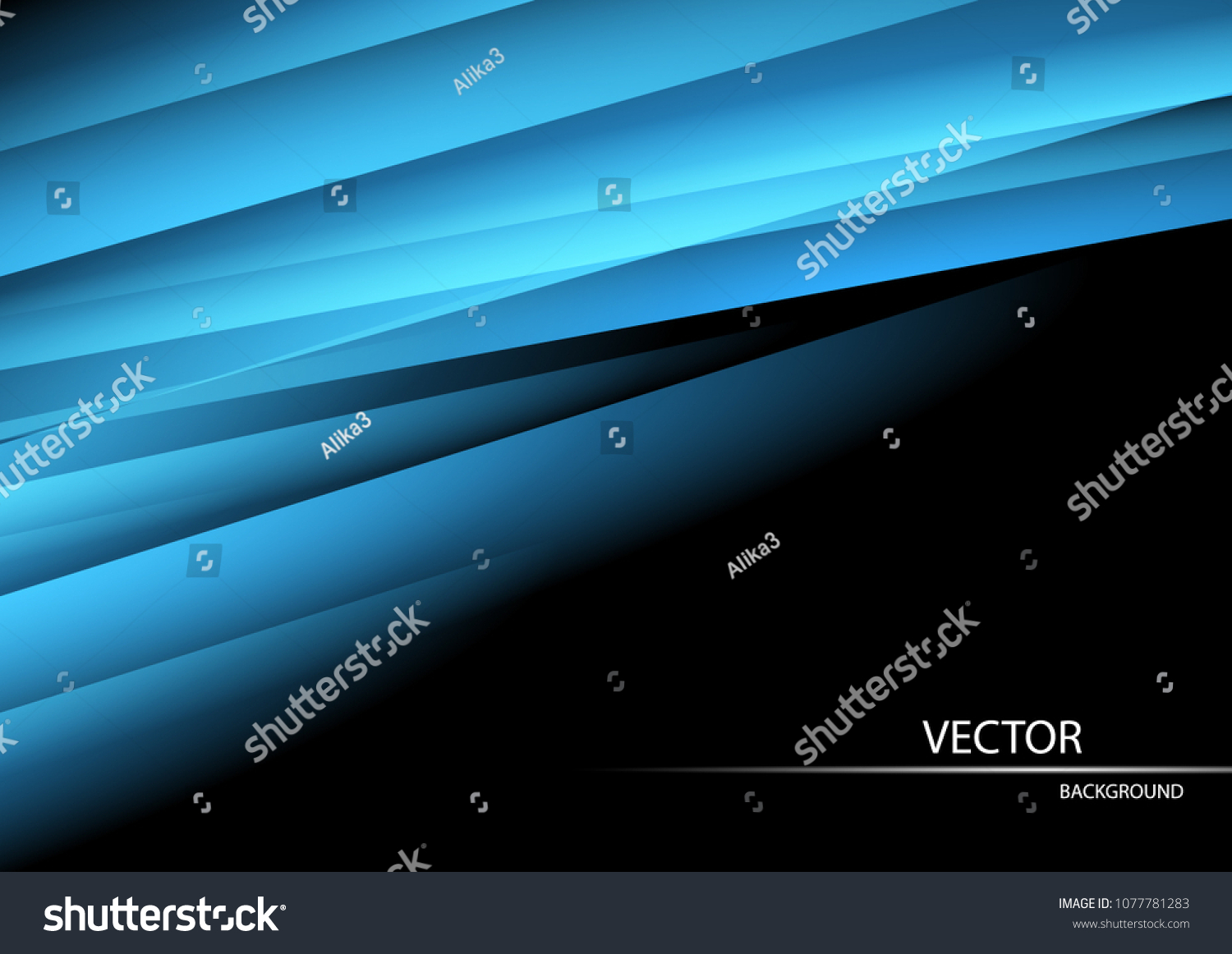 Black Abstract Wallpaper Blue Lines Material Stock Vector Royalty