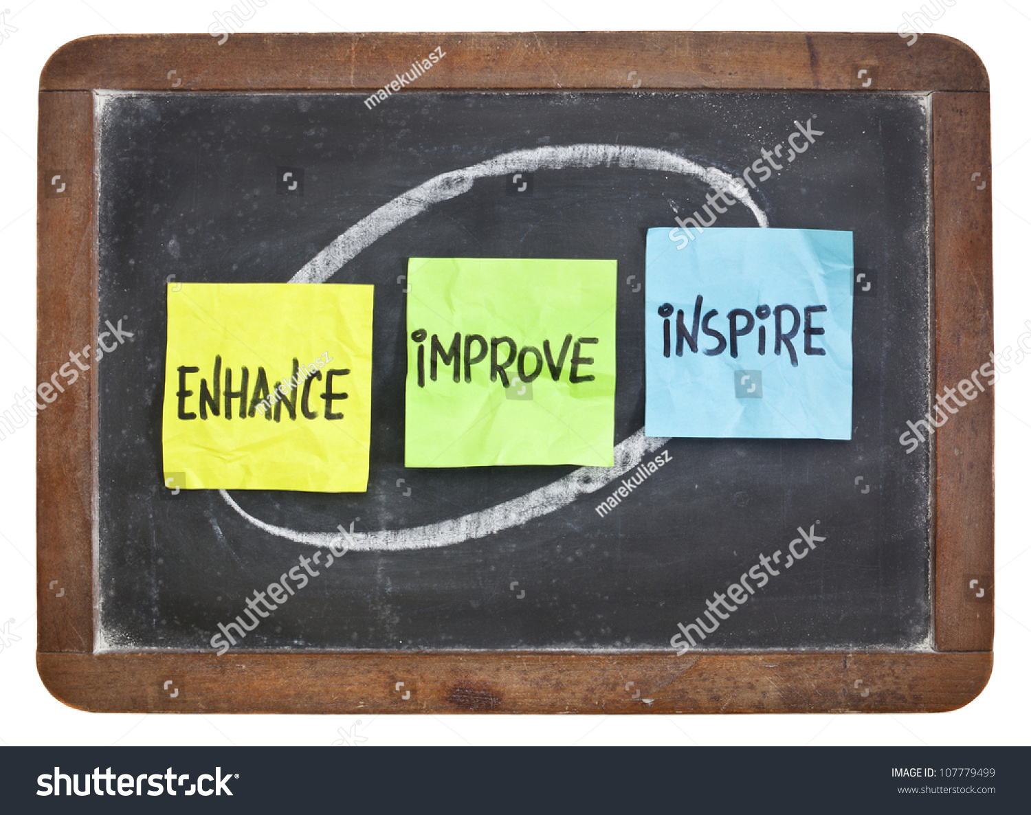 Enhance Improve Inspire Motivation Inspiration Concept Stock