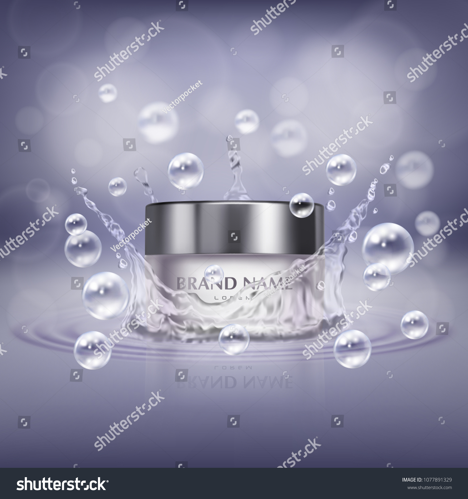 Vector Promotion Banner Realistic Glass Jar Stock Vector Royalty Free 1077891329