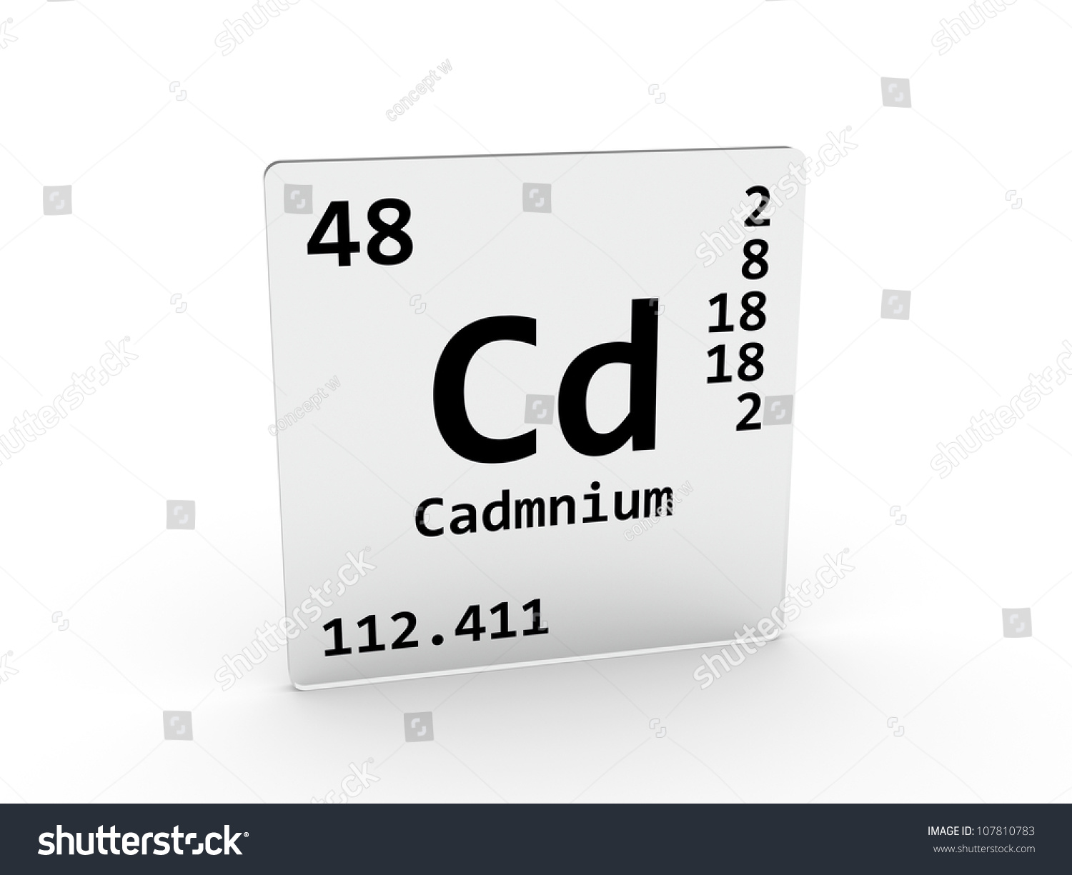 Cadmium Symbol - Cd - Element Of The Periodic Table Stock ...