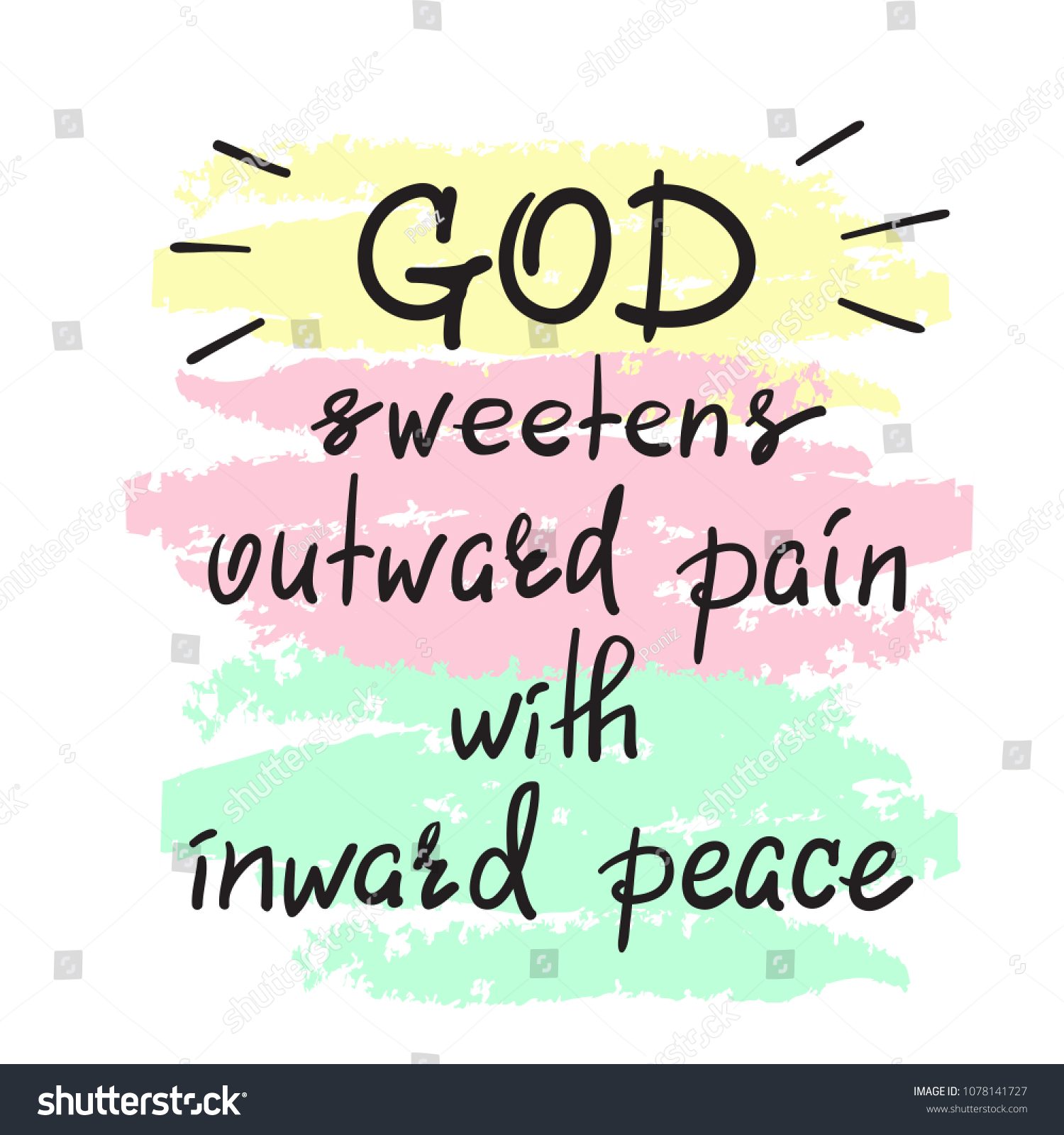 God Sweetens Outward Pain Inward Peace Stock Vector (Royalty Free