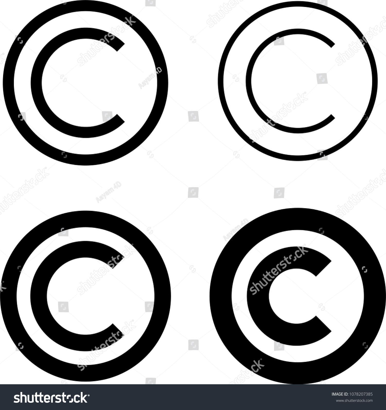 Copyright Icon Copyright Letter C Symbol Stock Illustration