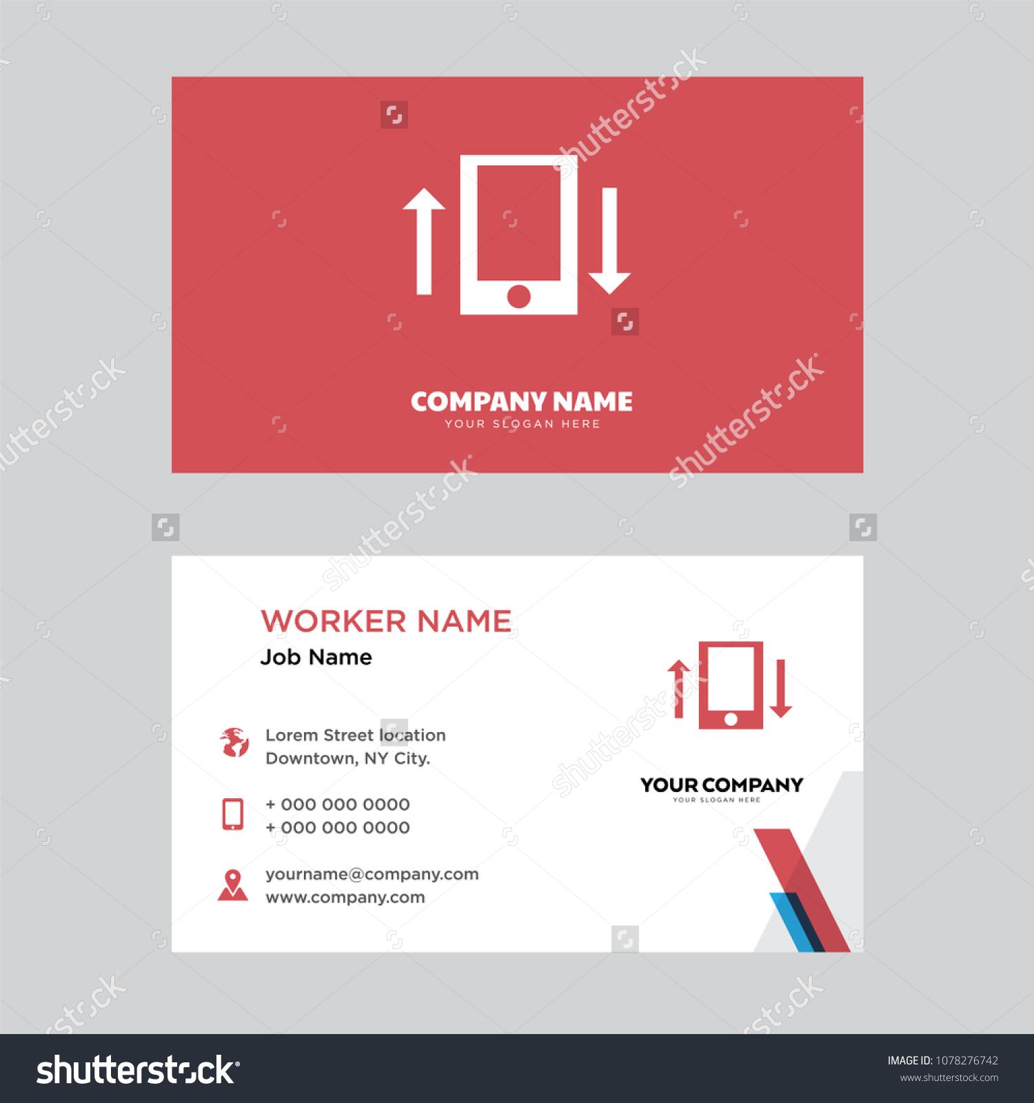 Sending Receiving Messages Business Card Design Stock Photo (Photo ...