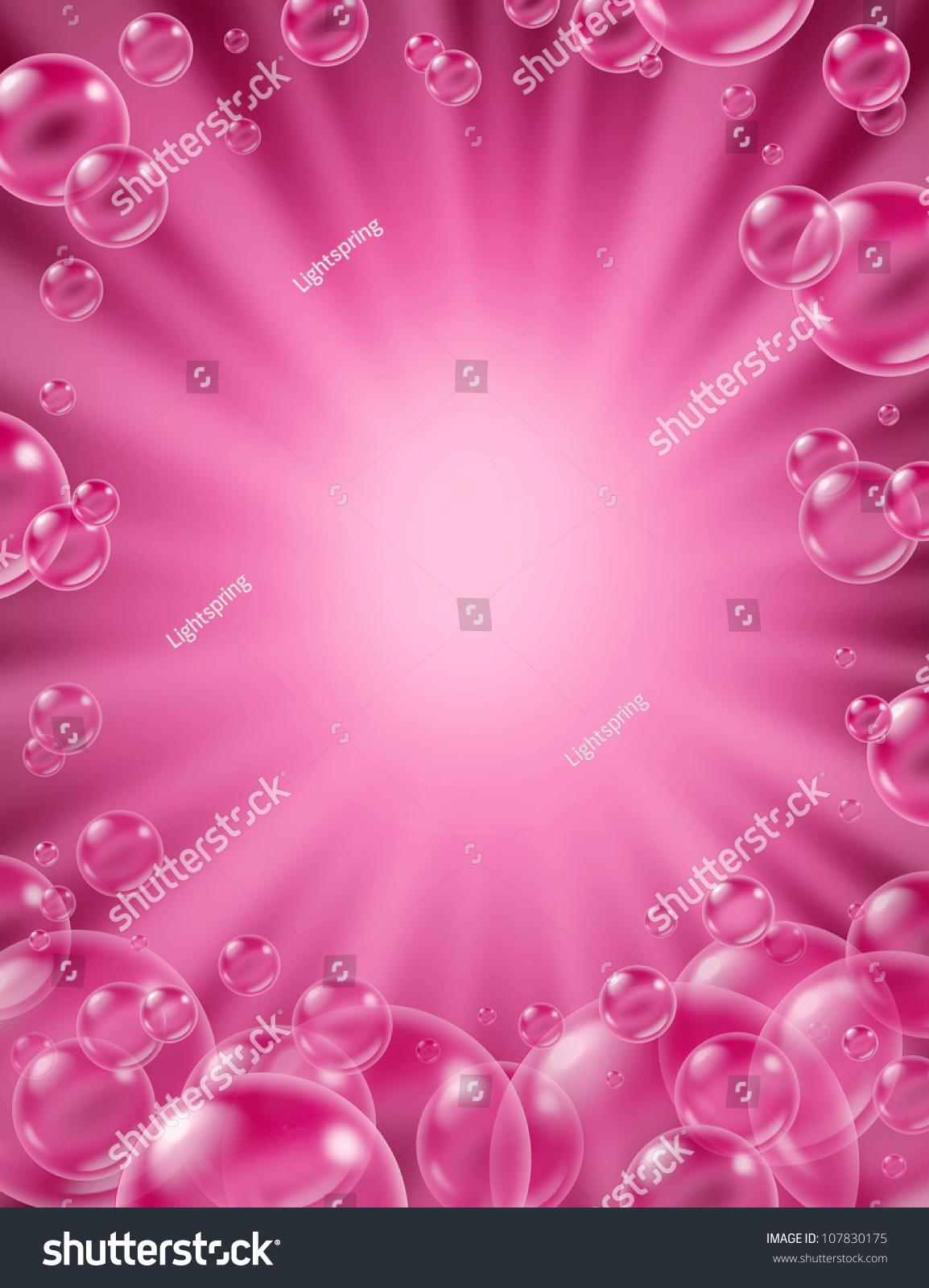 Pink Bubbles Background 68493 Interiordesign