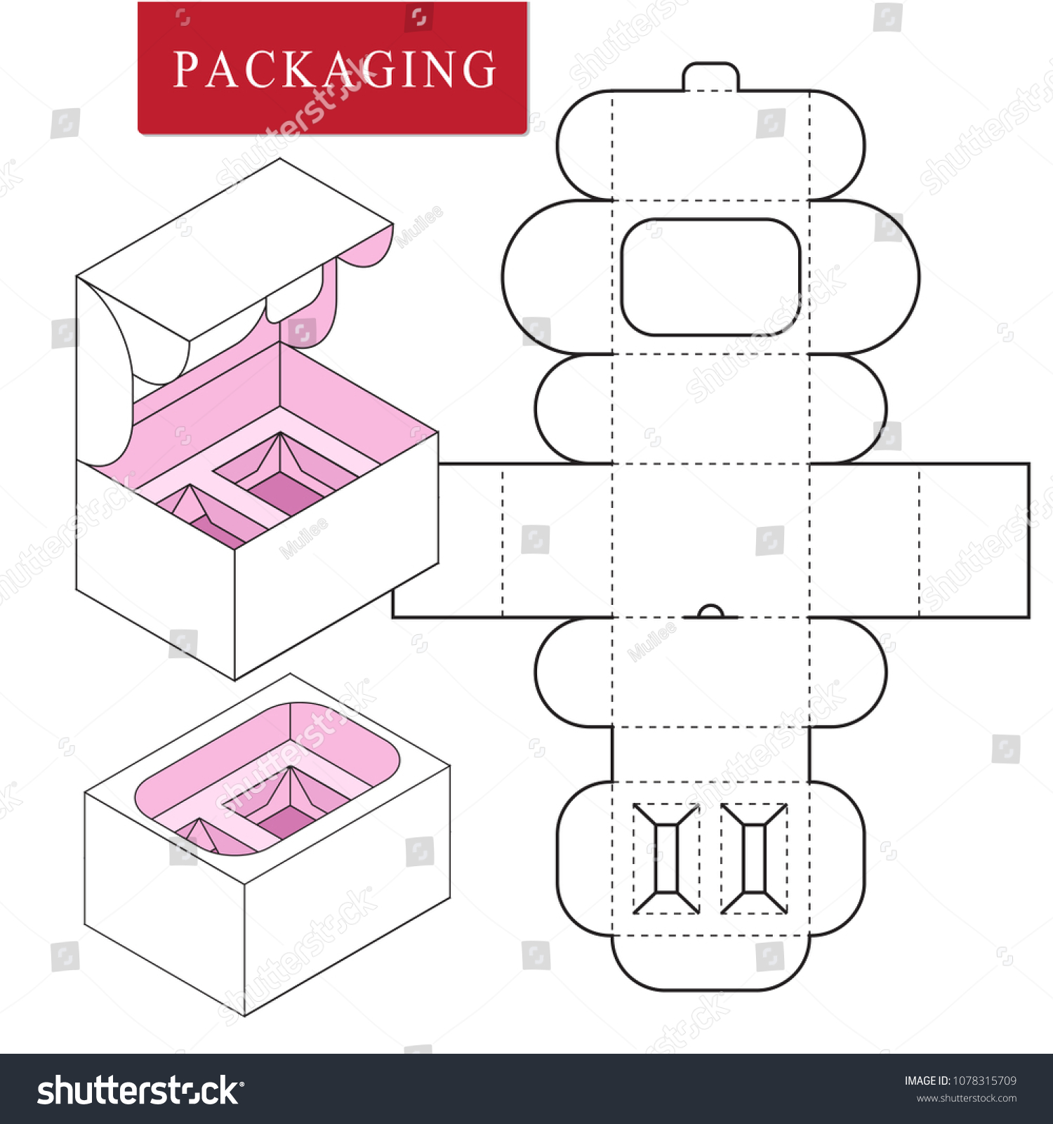 Packaging Design Product Set Gift Set Stock Vector Royalty Free 1078315709