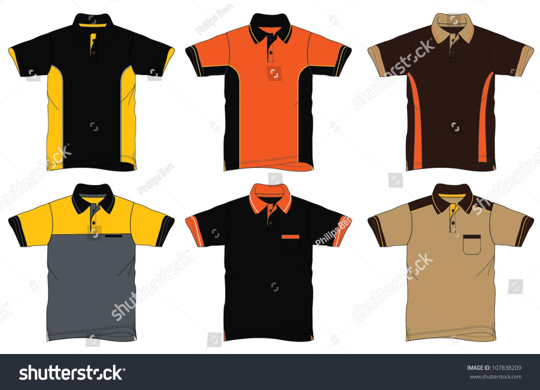 Polo shirt design vector - Uniform Polo Shirt Design Stock Vector