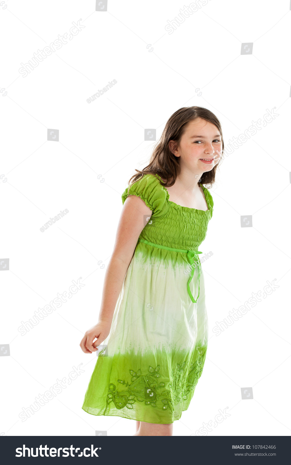 10 Cute Guys With Blonde Hair: Cute 10 Year Old Girl Portrait Stock Photo 107842466