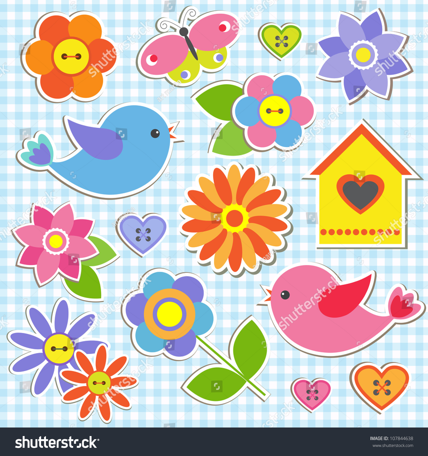 Stock Vector Birds And