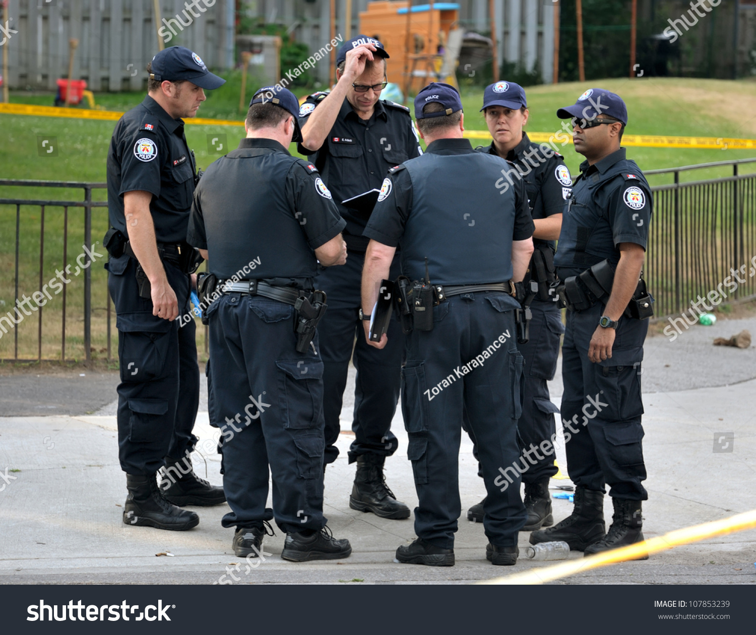 Torontojuly 17 Group Police Officers Crime Stock Photo