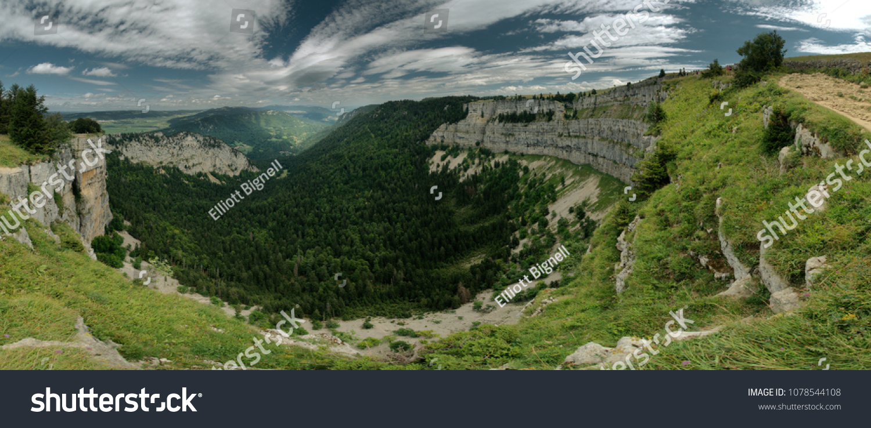 b9689547bd Creux Du Van Swiss Grand Canyon Stock Photo (Edit Now) 1078544108 ...