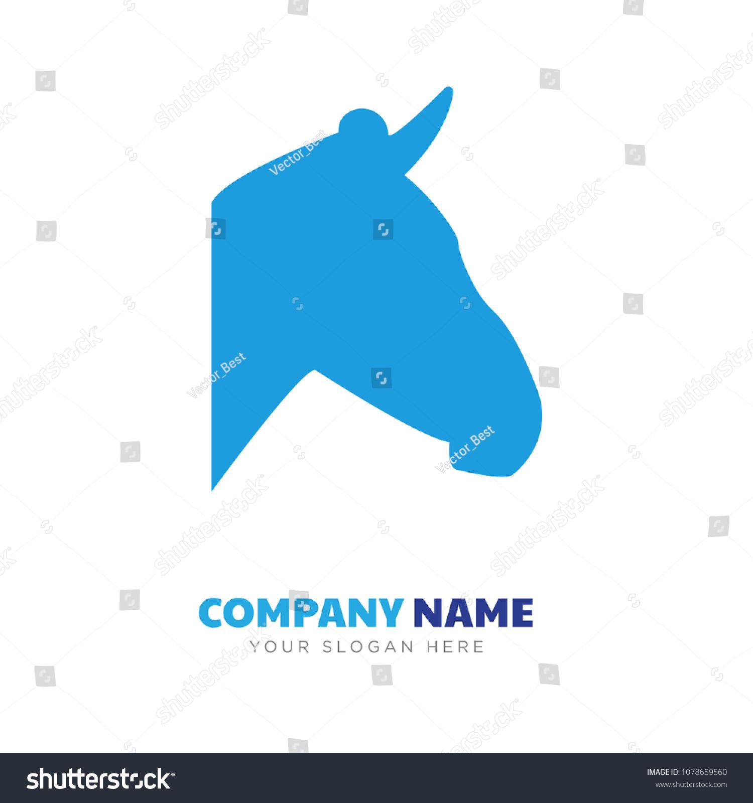 Zebra Head Company Logo Design Template Stock Vector 1078659560 ...