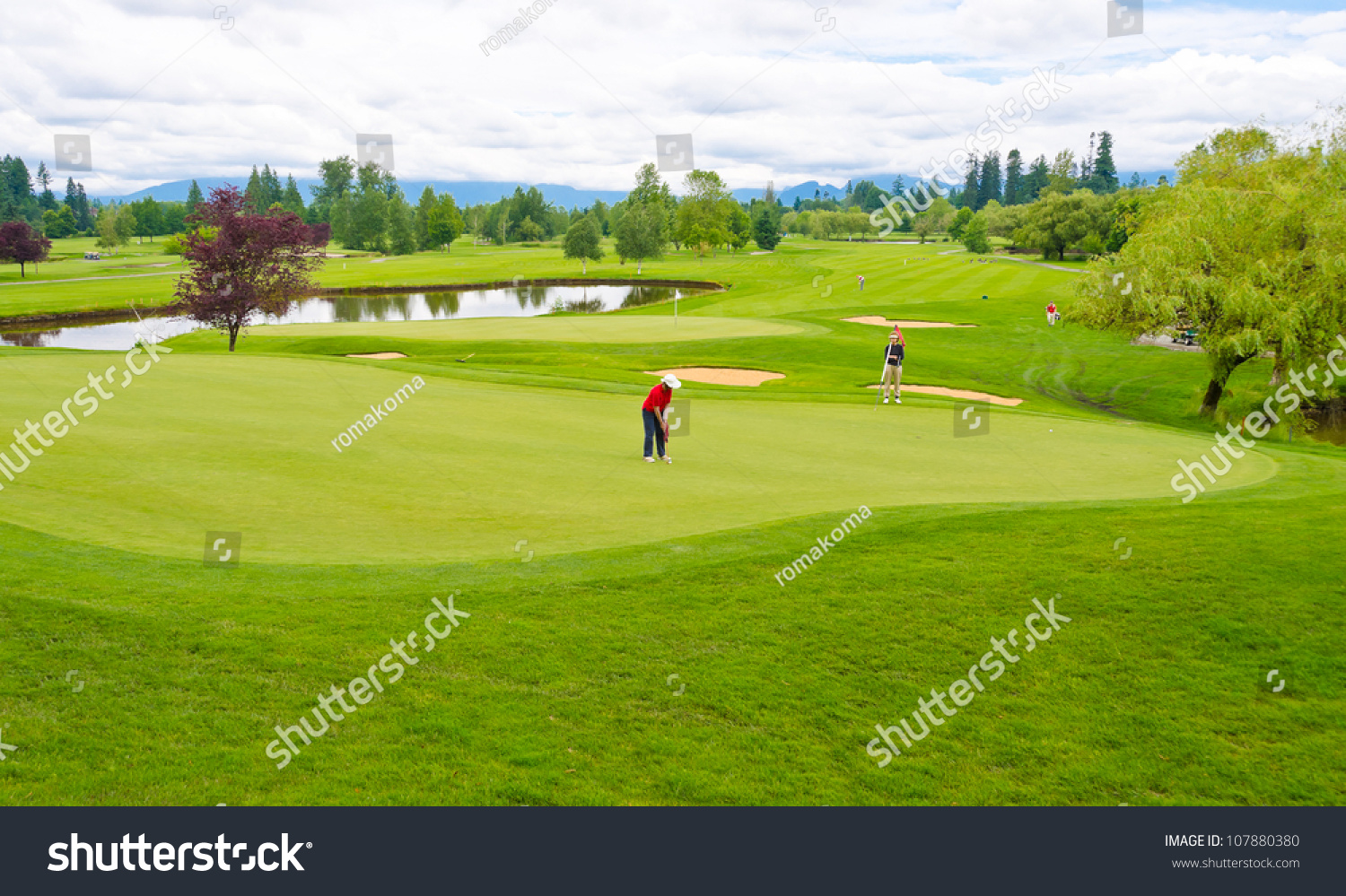 Great View Panorama Outlook Beautiful Golf Stock Photo ...