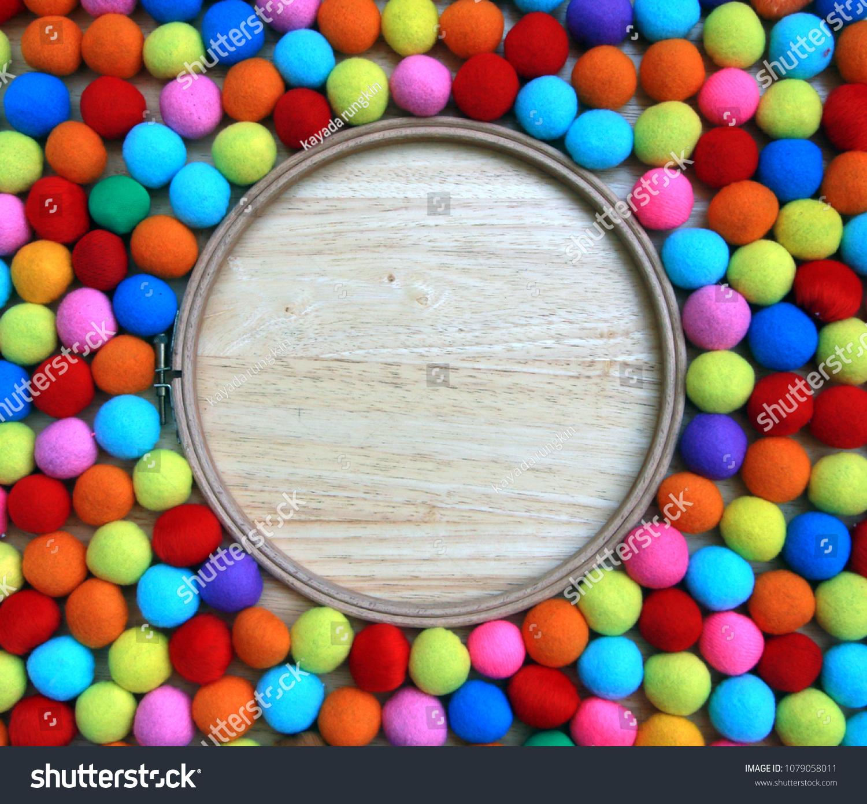 Fabric Balls Closeup Background Stock Photo Edit Now 1079058011