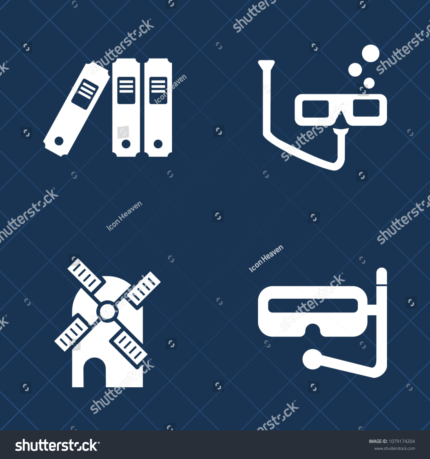 Premium Set Fill Vector Icons Such Stock Vector (Royalty Free