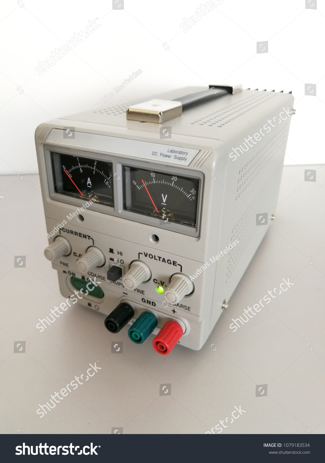 Precise Variable Voltage Current Power Supply Stock Photo (Edit Now