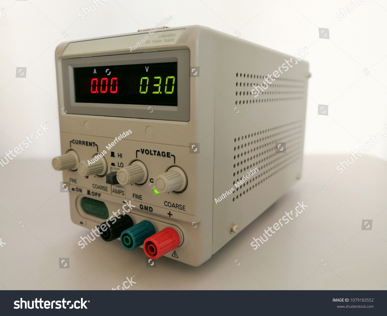 Precise Variable Voltage Current Power Supply Stock Photo Edit Now And Used In Prototyping Engineering