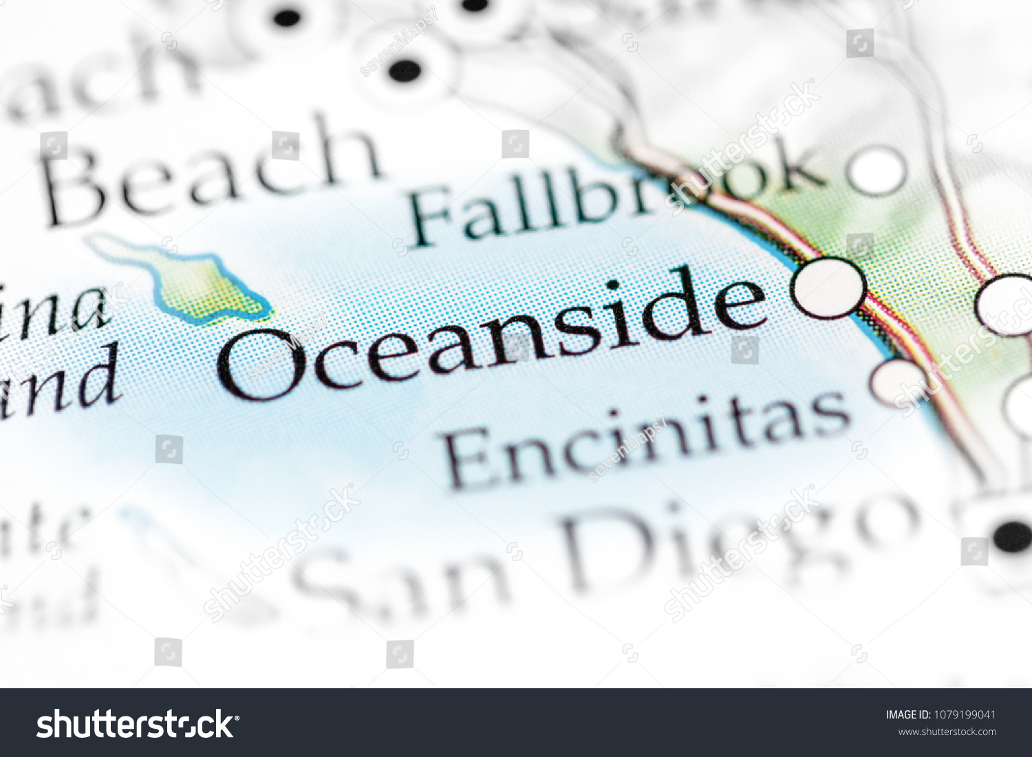 Oceanside California Usa On Map Stock Photo (Edit Now ...