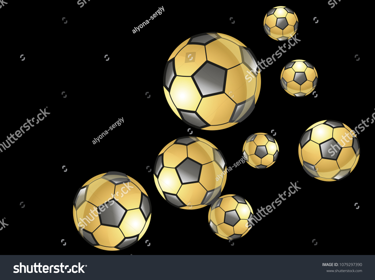 Background Soccer Balls Colorful Sportish Wallpaper Stock Vector Royalty Free 1079297390