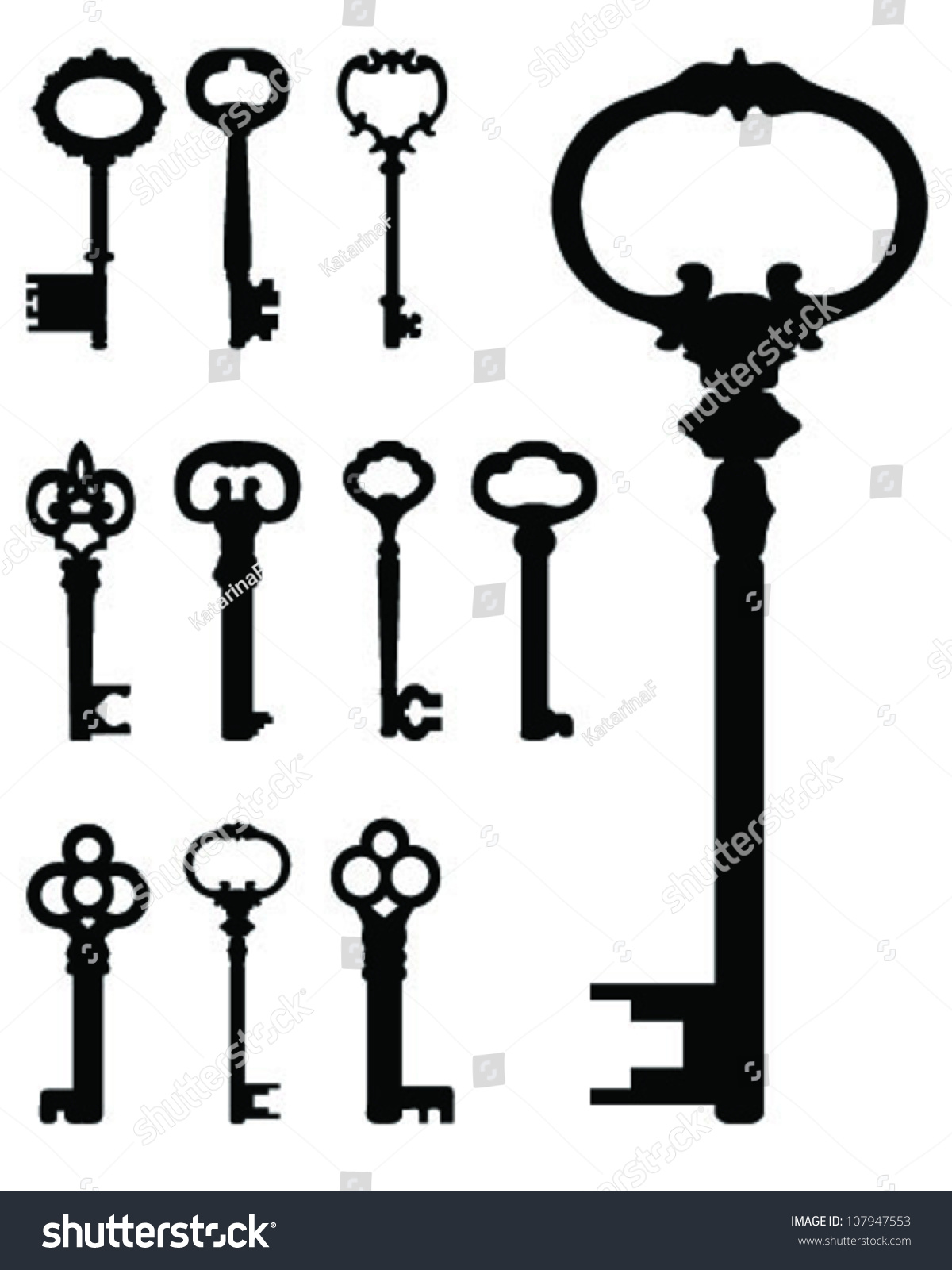 skeleton key clipart free vector - photo #36