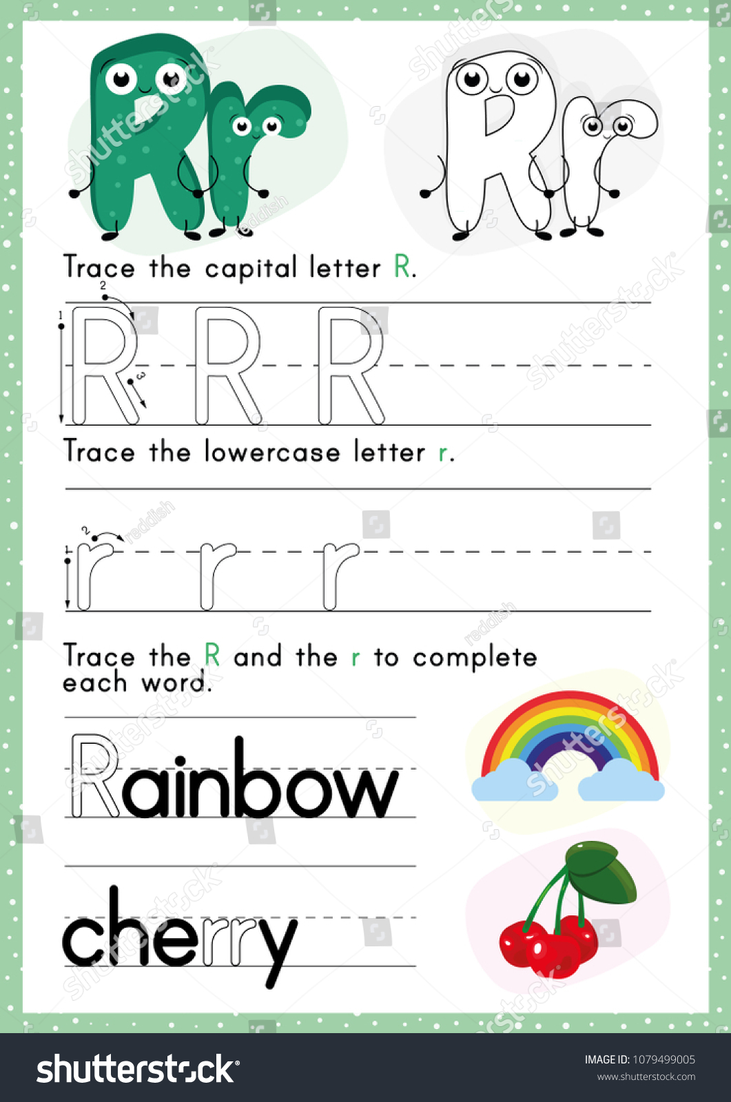 Alphabet Tracing Worksheet Alphabet Activity Pre Stock Vector