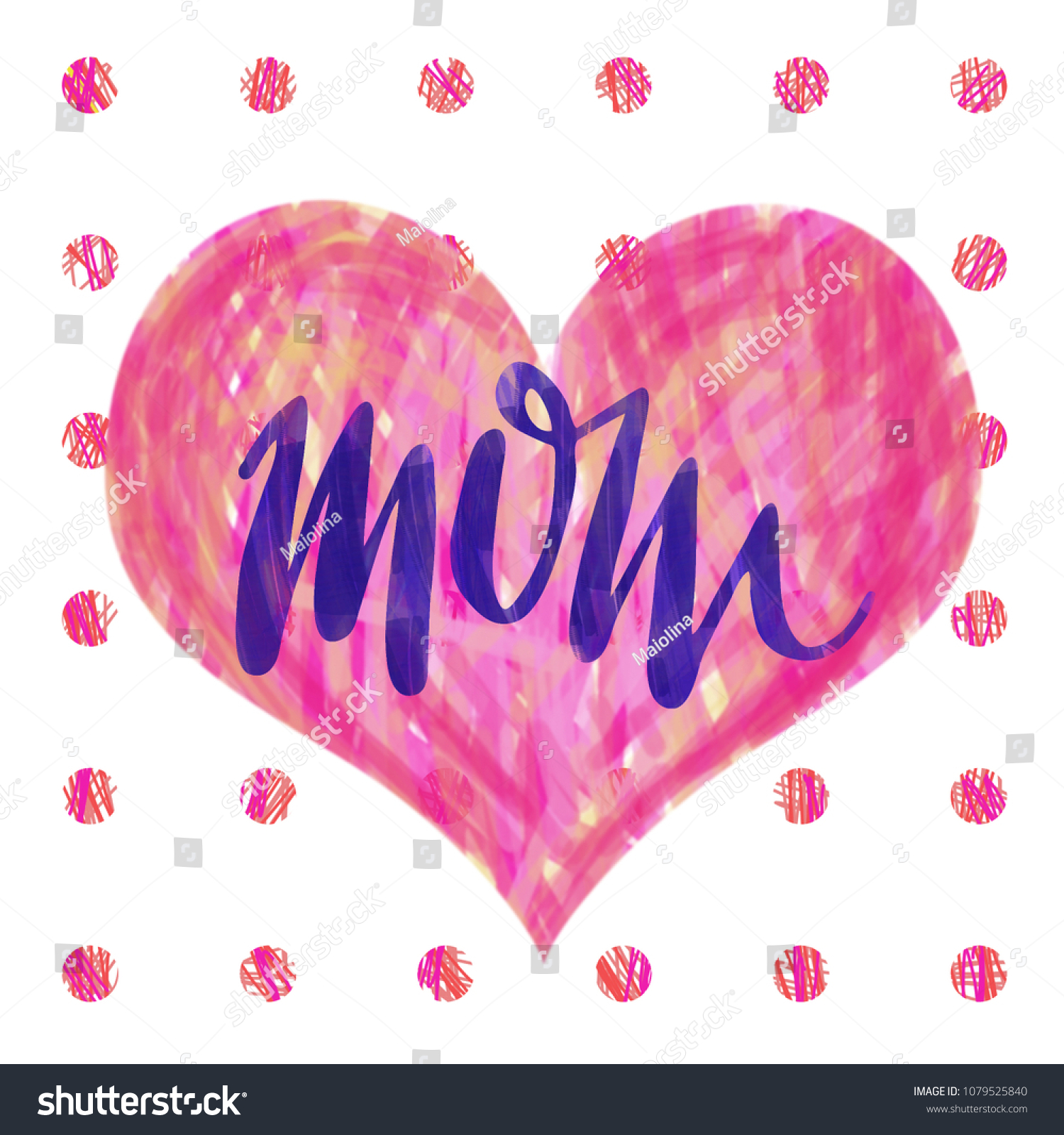 Message Thank You Mom Happy Mothers Stock Illustration 1079525840