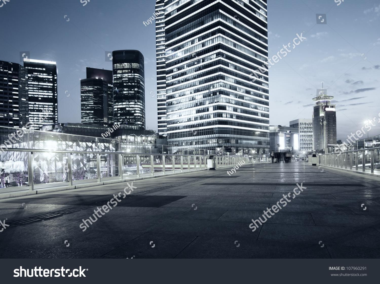 Beautiful night view of modern buildings in shanghai stock for Beautiful modern buildings