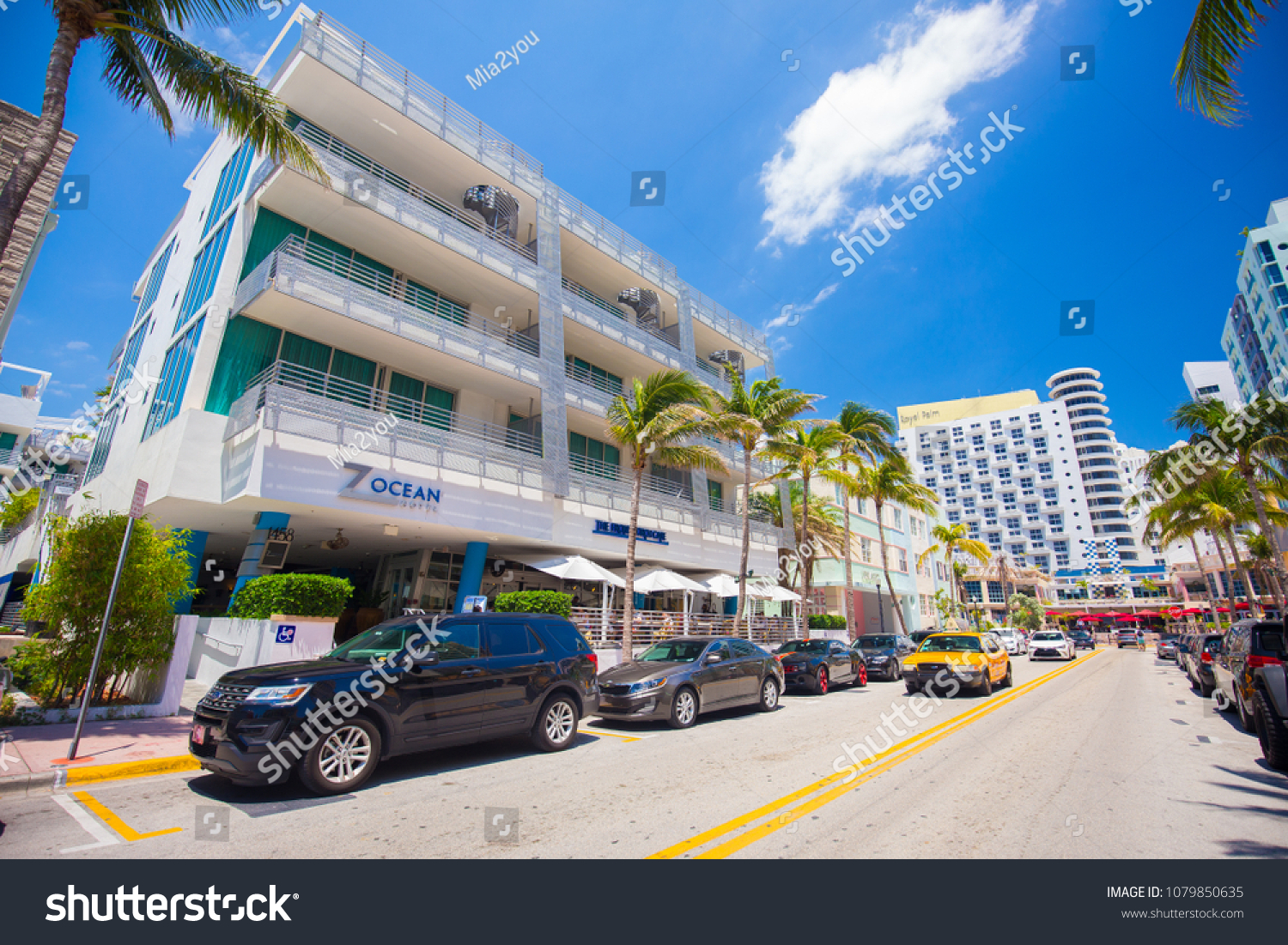 Usa Florida Miami Beach April 2018 Stock Photo