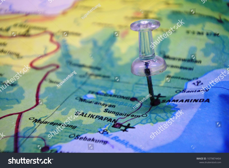 Samarinda City Map Stock Photo (Edit Now) 1079874404 - Shutterstock