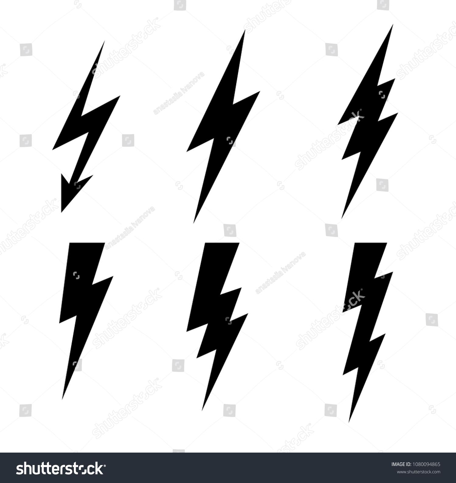 Lightning Thunderbolt Icon Vectorflash Symbol Illustrationlighting ...