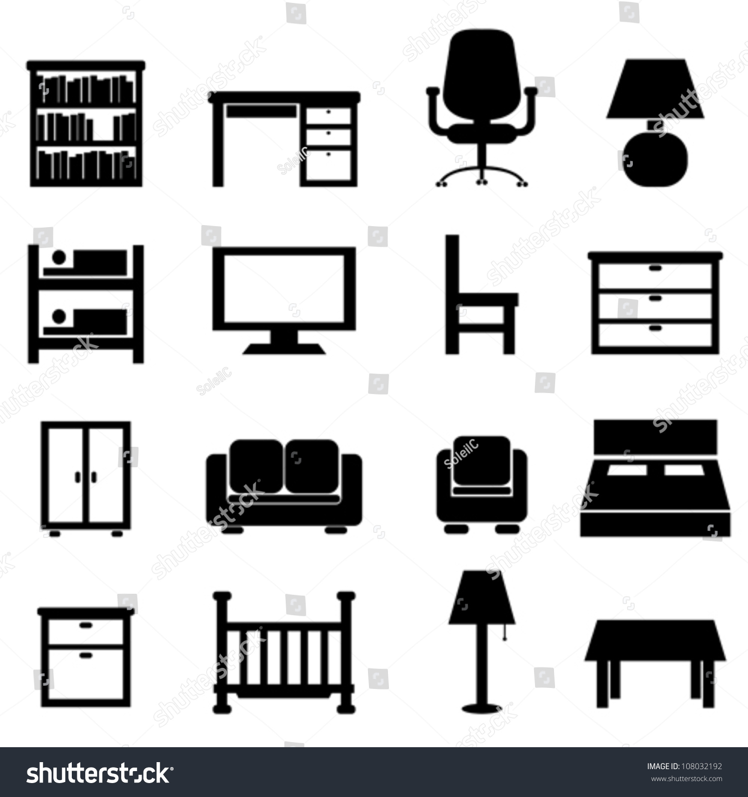house and office furniture icon set stock vector illustration 108032192 shutterstock brilliant office table top stock photos images
