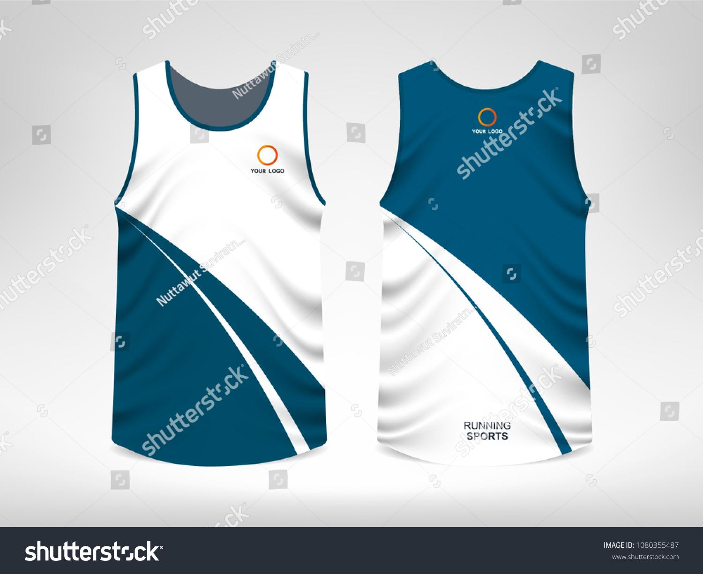 Sleeveless Sport Tshirt Design Stock Vector Royalty Free
