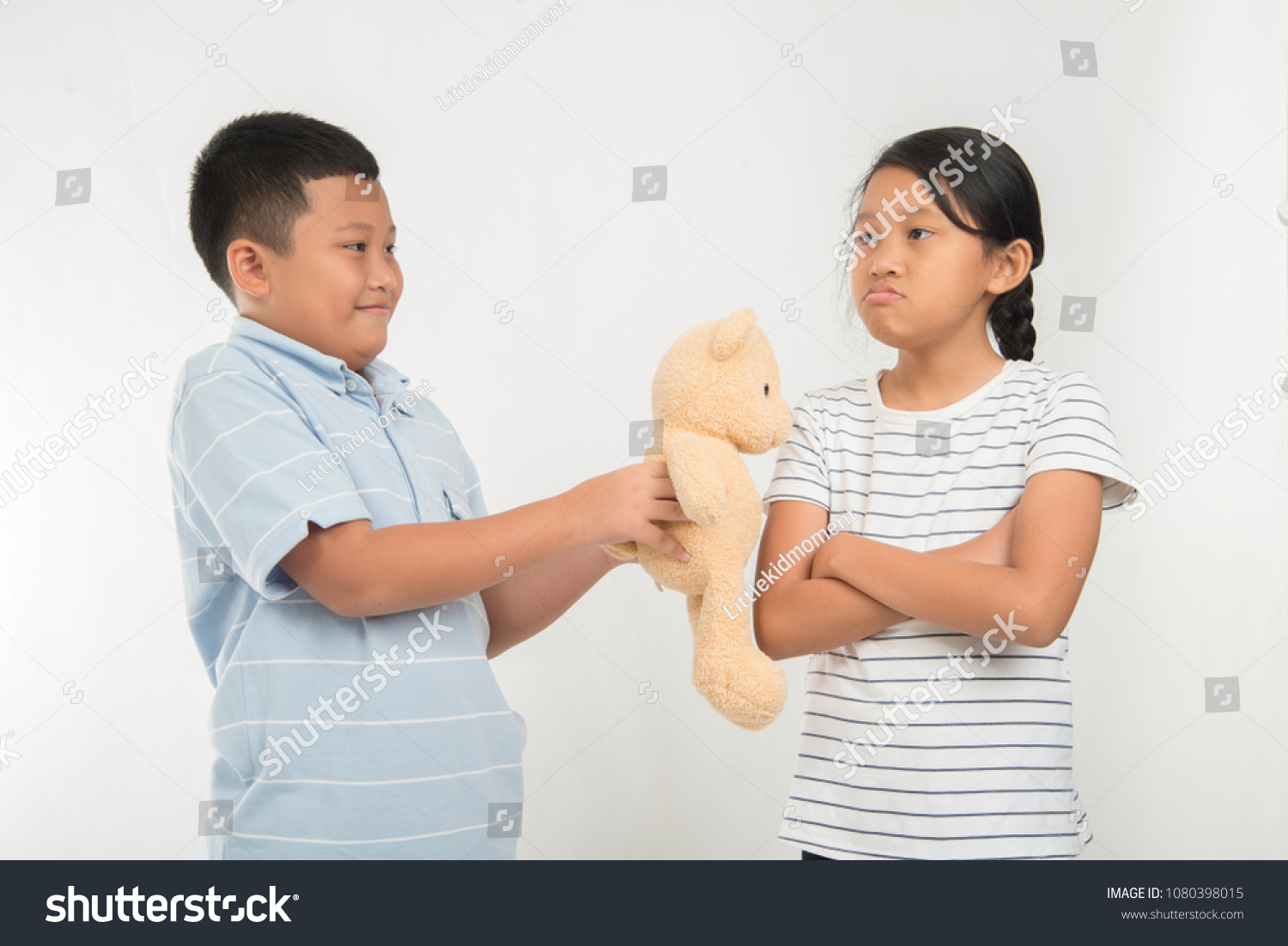 Girl Angry Boy Each Other When Stock Photo Edit Now 1080398015