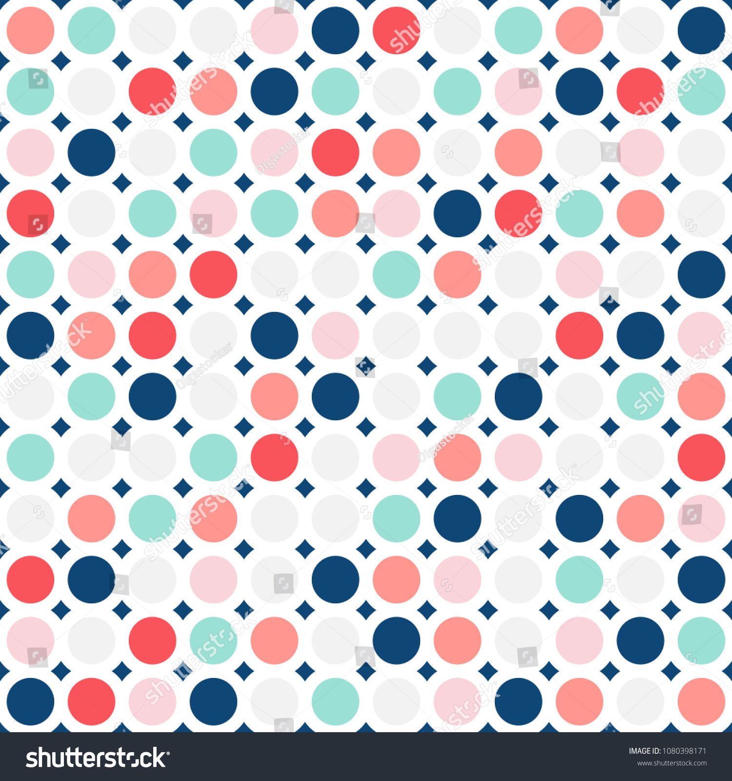 Fashionable Geometric Background In Trendy Colors Soft Pink, Navy