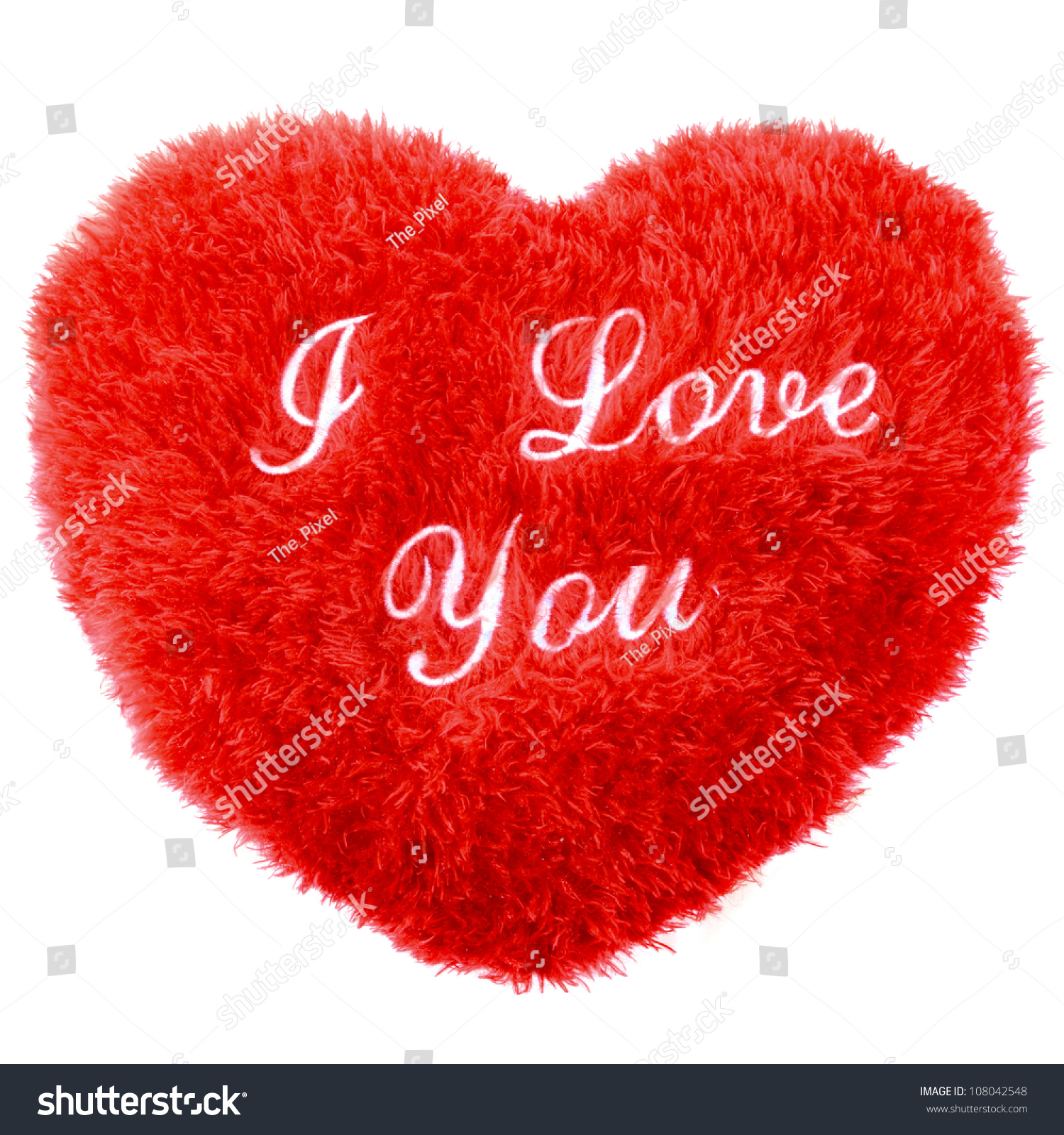 Fluffy Love You Heart Shape Day Stock Photo 108042548