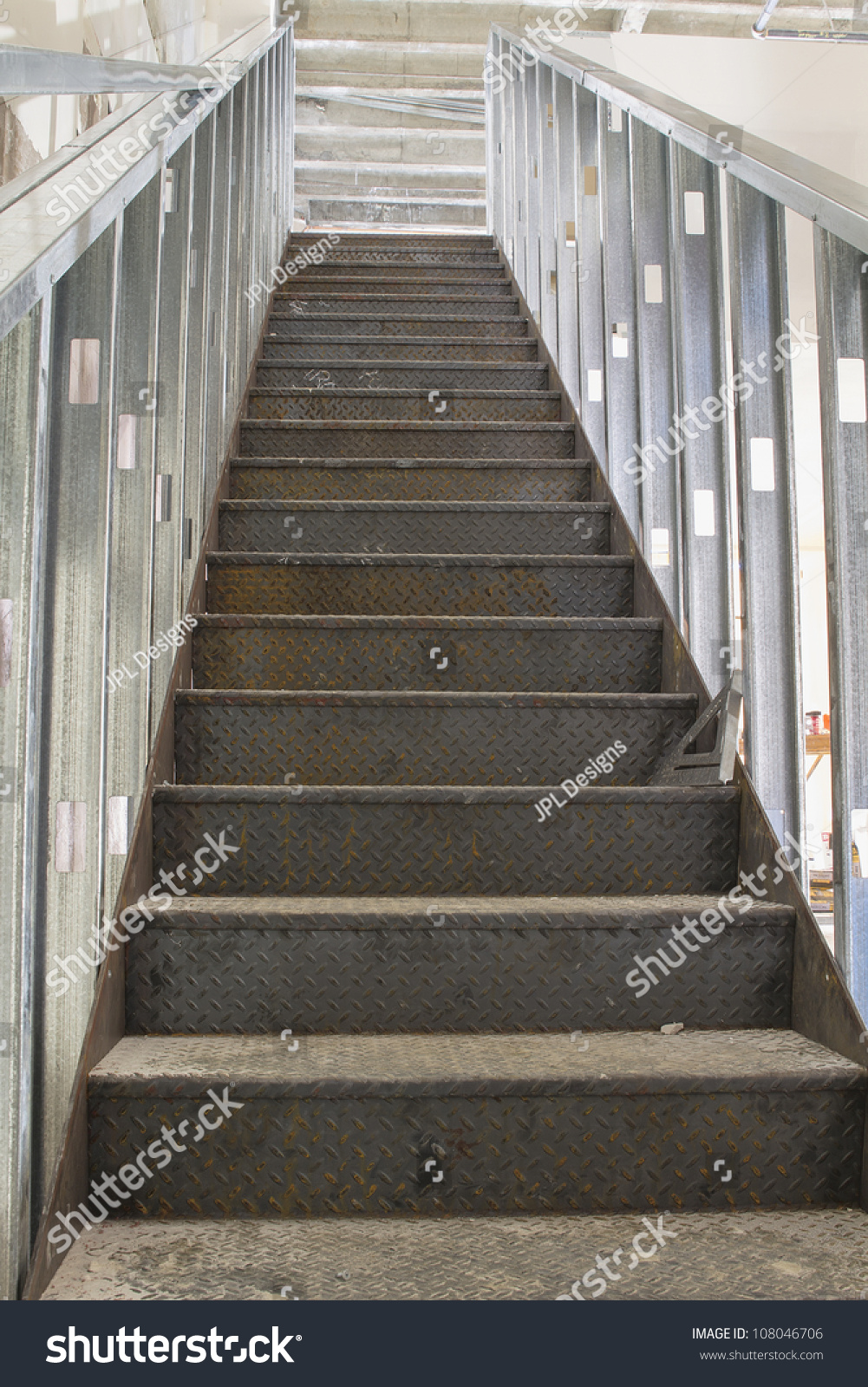 Commercial Steel Staircase Stairs Construction Metal Stock