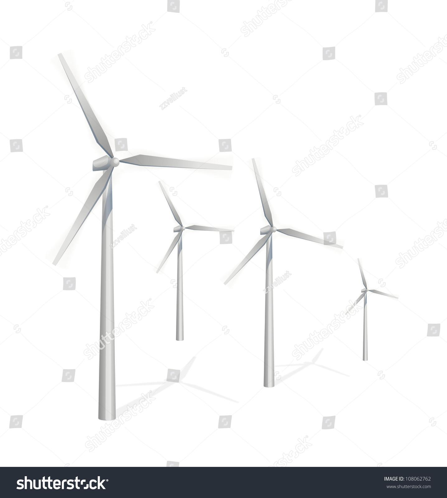 Vector Icon Wind Power Generation Stock Vector
