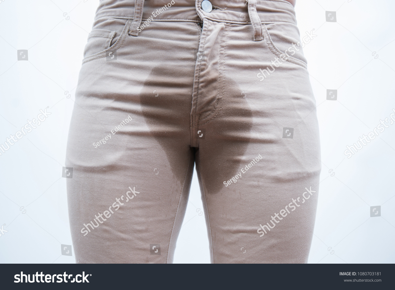 Detail Wet Pantsejaculation Fertility Erection Bladder Stock Photo