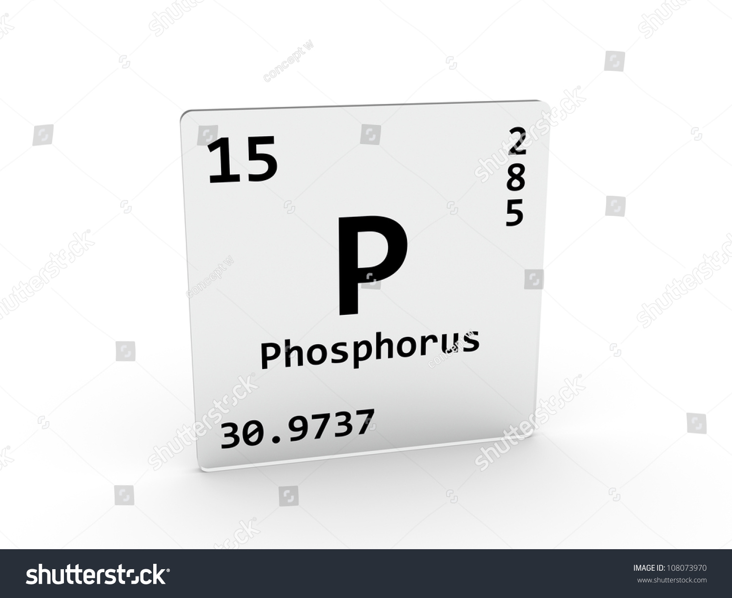 Phosphorus symbol p element periodic table stock for P table of element